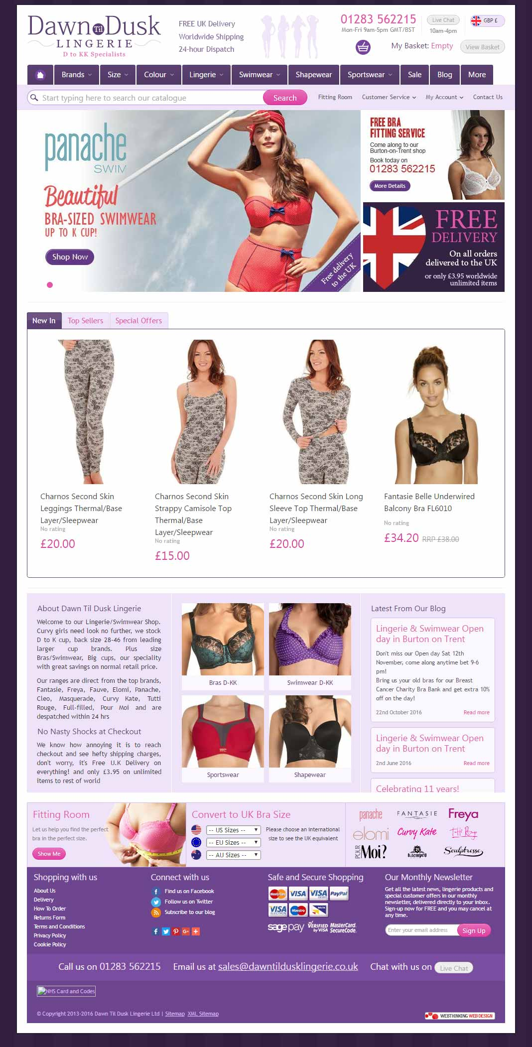 eCommerce Web Design lingerie site